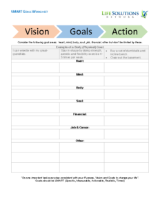 Vision and Goals – Template